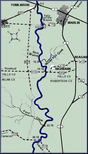 Brazos River map courtesy Texas Parks & Wildlife Department