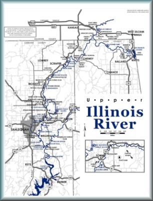 Map of the Illinois River