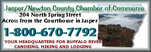 Jasper/Newton County Chamber of Commerce - Promoting canoeing, kayaking, rafting and camping on the Upper Buffalo National River