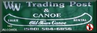 WW Trading Post and Canoe on the Lower Mountain Fork River