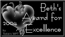Beth's Award for Excellence