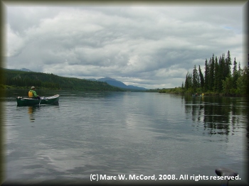 Paddling the Teslin River in the Yukon Territory