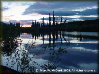 Evening on the scenic Teslin River