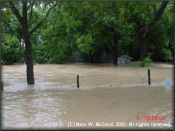The river at 4th Crossing during the 2002 flood