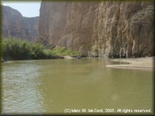 A view of the Mexican wall in Boquillas Canyon