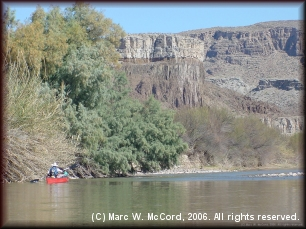 A side canyon on the Rio Grande