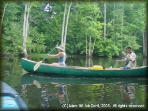 Mara Kahn and Larry Rice on the Cache River