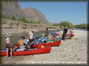 Great Unknown trips begin at the Santa Elena Canyon take-out
