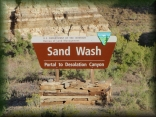 Entrance to Sand Wash