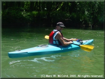Paul Boling kayaking the Illinois River