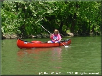 Bonnie Haskins paddling one of her favorite rivers
