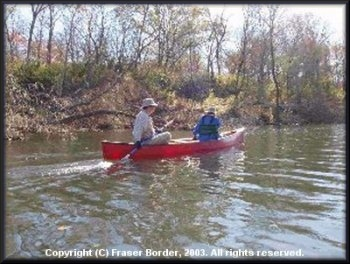 Bryan and Gloria Jackson paddling the Kiamichi River