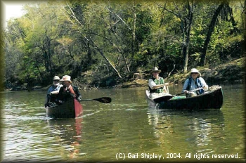 DDRC members canoeing the Kiamichi River