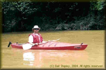 Bryan Jackson kayaking the K River in 2004