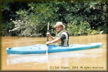 Roy Pipkin kayaking the Kiamichi River