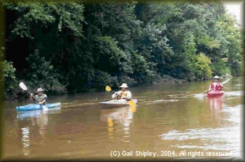 DDRC members paddling the Kiamichi River