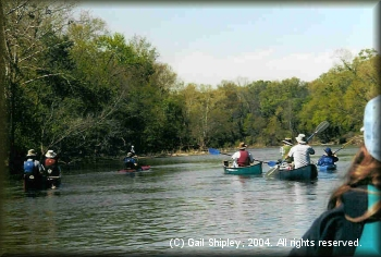 DDRC group paddling the K River in 2004