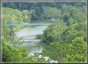 Looking downriver to the Highway J Bridge just above Lake of the Ozarks