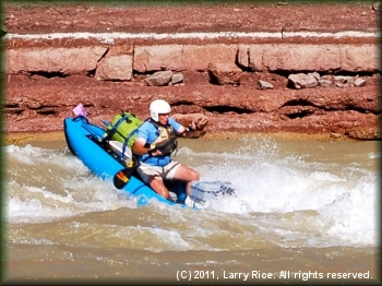 Marc McCord running the big hole at Joe Hutch Rapid