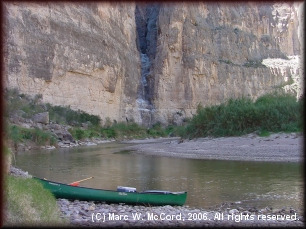 Excellent Texas and Mexican side campsites in the canyon